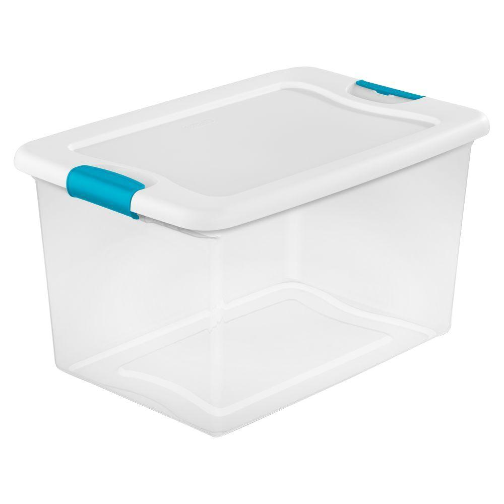64 Qt. Latching Storage Box  sc 1 st  The Home Depot & Storage Bins u0026 Totes - Storage u0026 Organization - The Home Depot