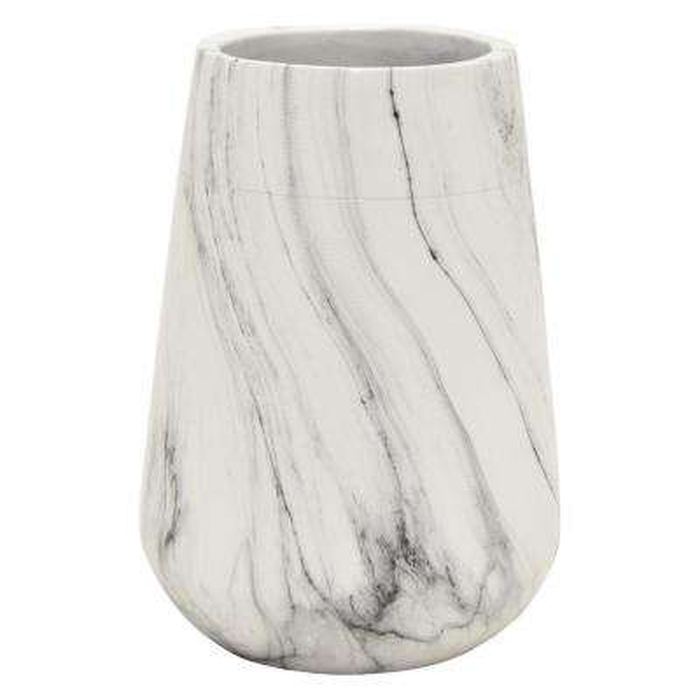 9 in. Marble Look Vase