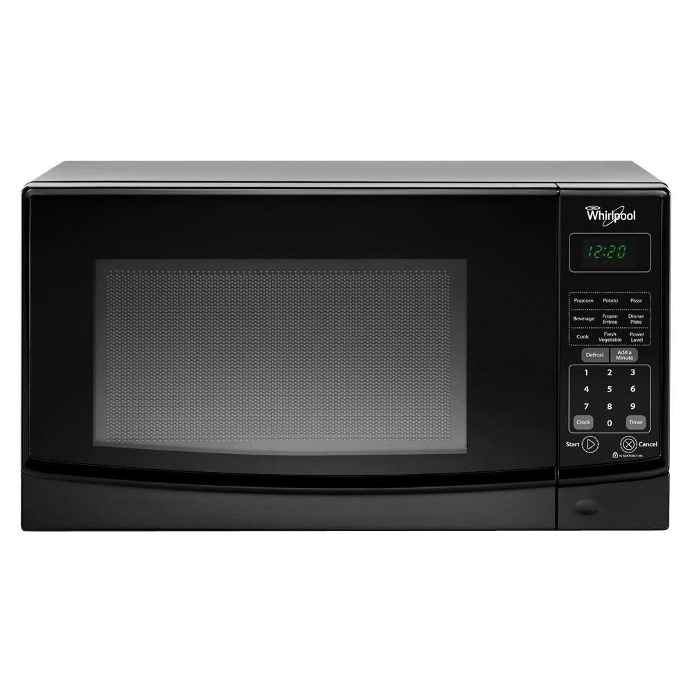 Whirlpool 0 7 Cu Ft Countertop Microwave In Black