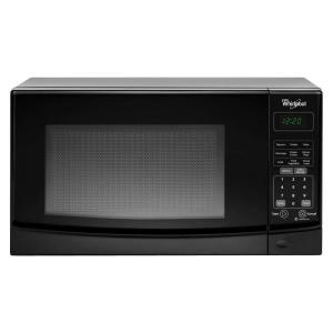 Whirlpool 0 7 Cu Ft Countertop Microwave In Black Wmc10007ab The Home Depot