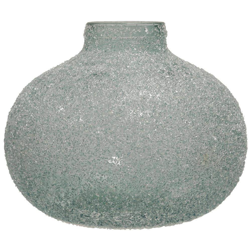 StyleCraft Translucent Blue Crackle Glass Round Wide Vase was $98.99 now $33.52 (66.0% off)