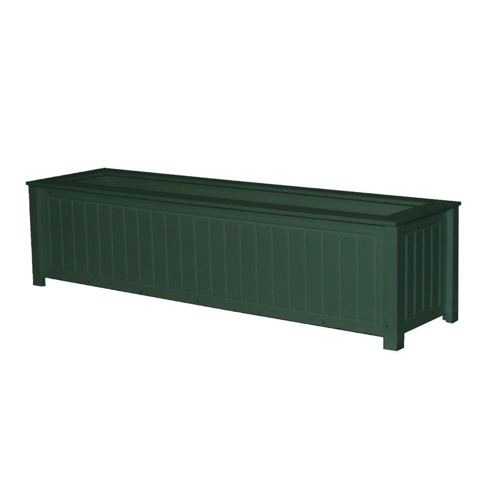 Eagle One North Hampton 48 in. x 12 in. Green Recycled Plastic Commercial Grade Planter Box