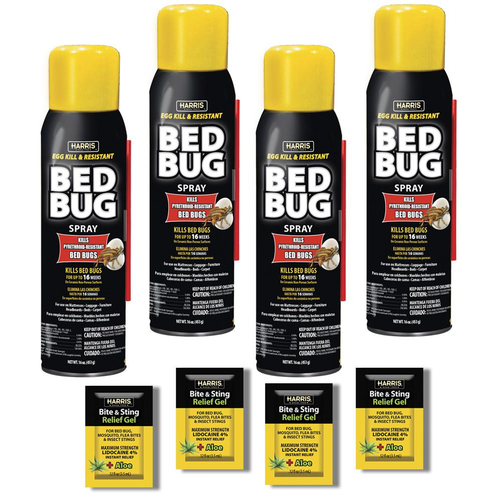 Harris 16 oz. Egg Kill and Resistant Bed Bug Spray (4-Pack)