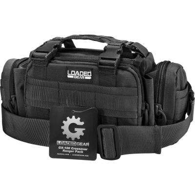 Loaded Gear GX-100 Small 8 in. Black Ballistic Nylon Crossover Ranger Pack