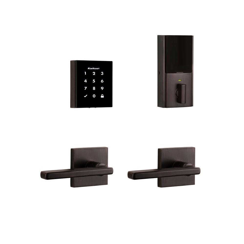 Kwikset Obsidian Venetian Bronze Keyless Electronic
