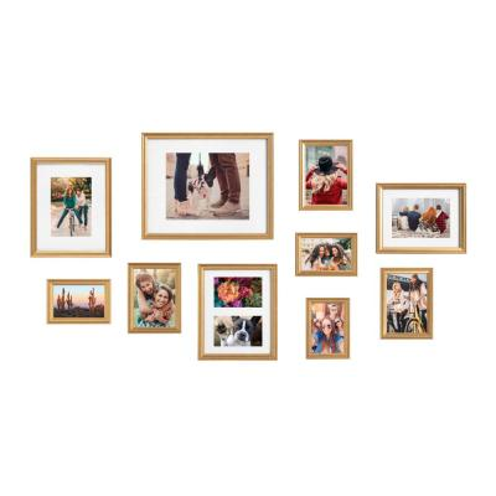 Adlynn Gold Picture Frames (Set of 10)