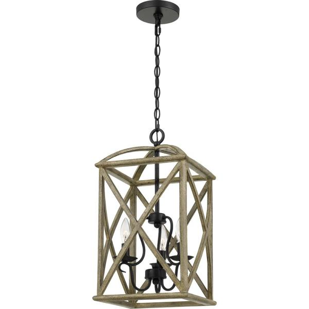 Woodhaven 3-Light Distressed Weathered Oak Pendant