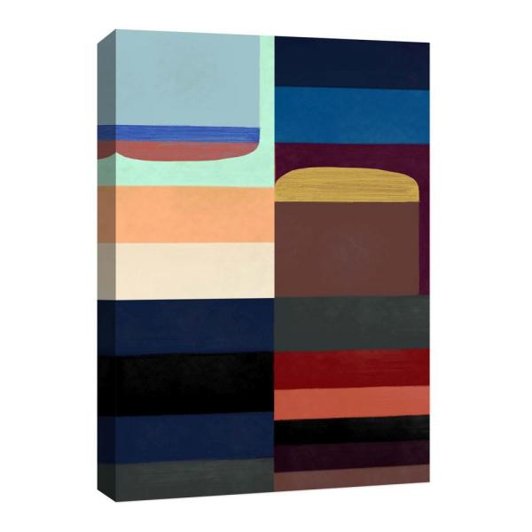 10 In Abstract Colors Canvas Wall Art