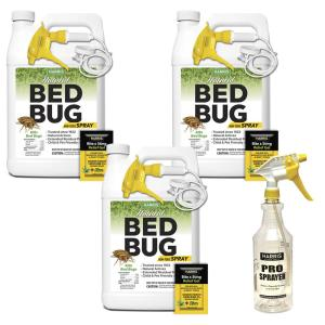 Harris 128 oz. Natural Bed Bug Killer Spray 3 Gal. Value Pack by Harris