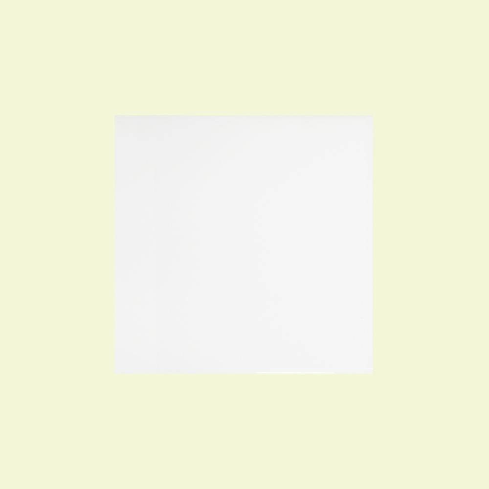 Jeffrey Court 4-1/4 in. x 4-1/4 in. Fresh White Ceramic Field Wall Tile