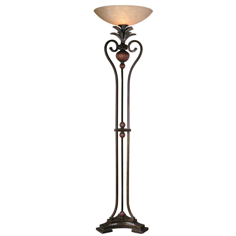 Global Direct 73 in. Golden Bronze Floor Lamp