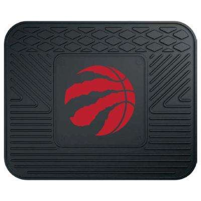 NBA Toronto Raptors Black Heavy Duty 14 in. x 17 in. Vinyl Utility Mat