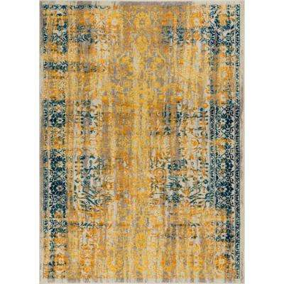 Laurent Stratton Yellow 8 ft. x 10 ft. Modern Vintage Eclectic Area Rug