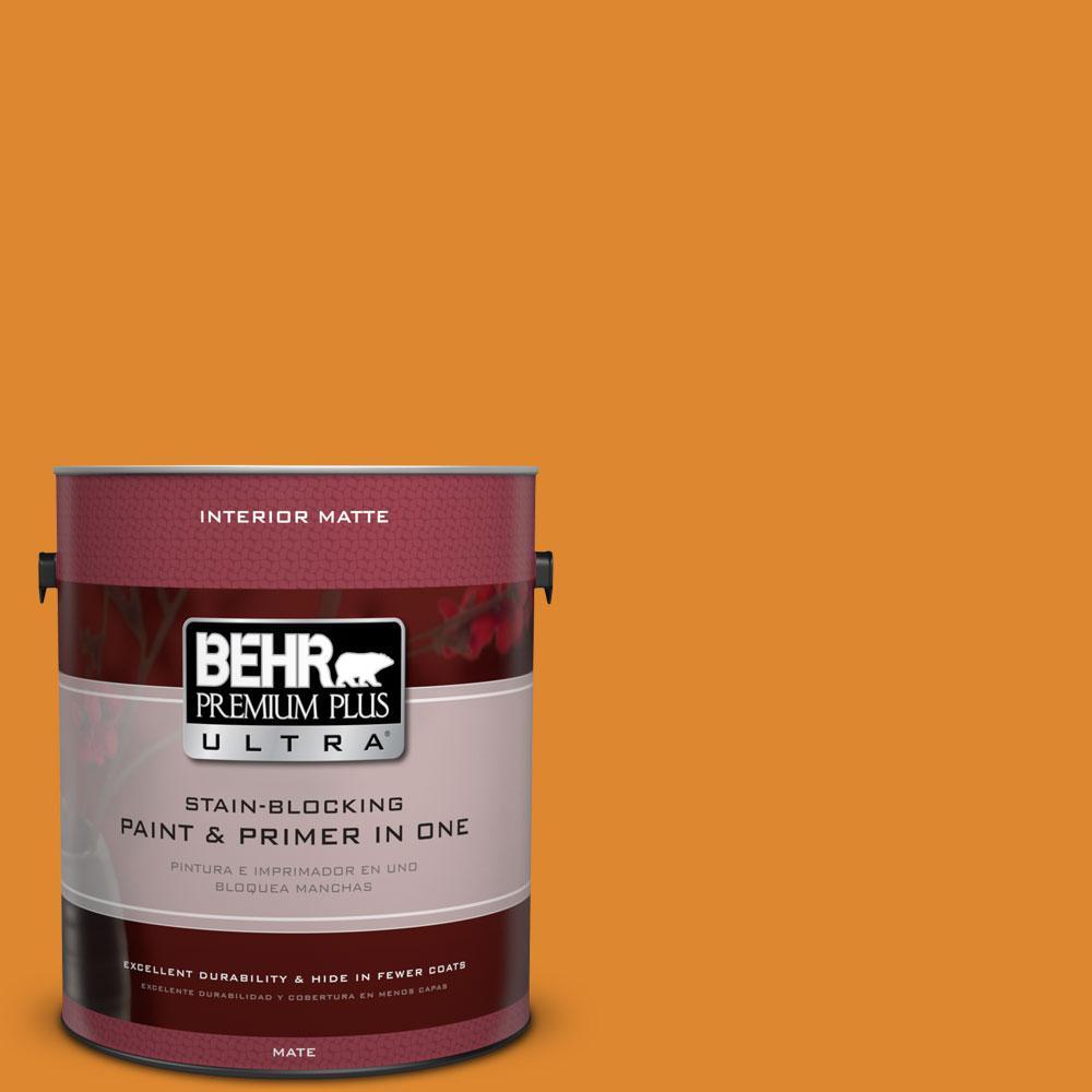 BEHR Premium Plus Ultra 1 gal. #280B-7 Status Bronze Flat/Matte Interior Paint