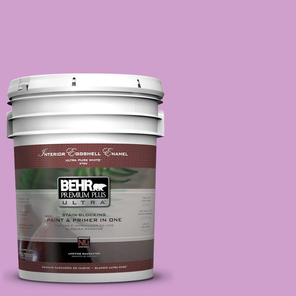 BEHR Premium Plus Ultra 5-gal. #670B-4 Geranium Bud Eggshell Enamel Interior Paint