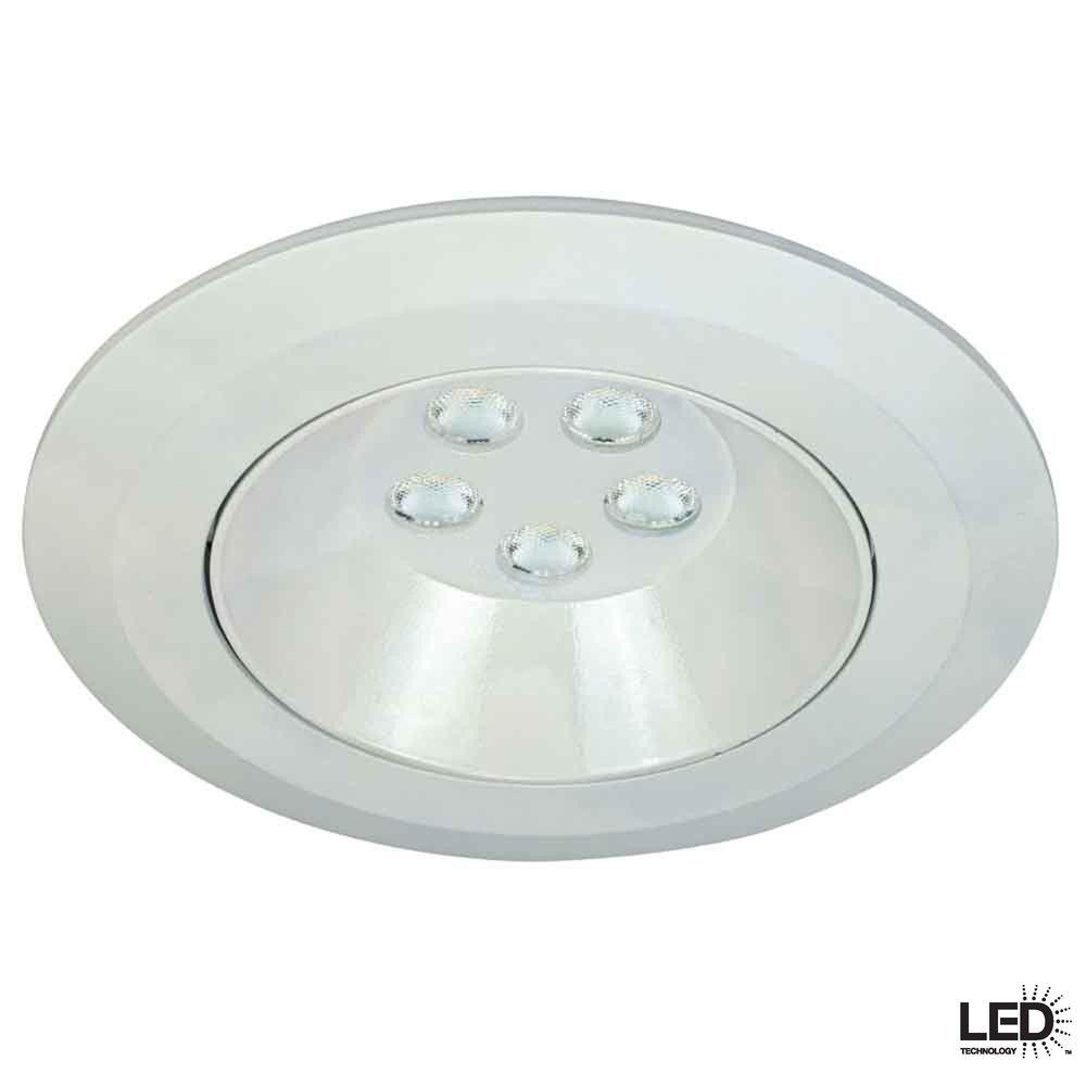 Commercial Electric 6 in. Recessed White Gimbal LED Trim-DISCONTINUED
