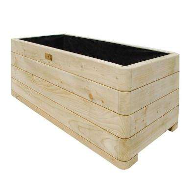 English Garden 39 in. W x 20 in. D x 15 in. H Rectangular Wood Planter