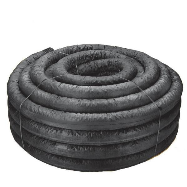 3 in. x 100 ft. Corex Drain Pipe Perforated with Filter Sock