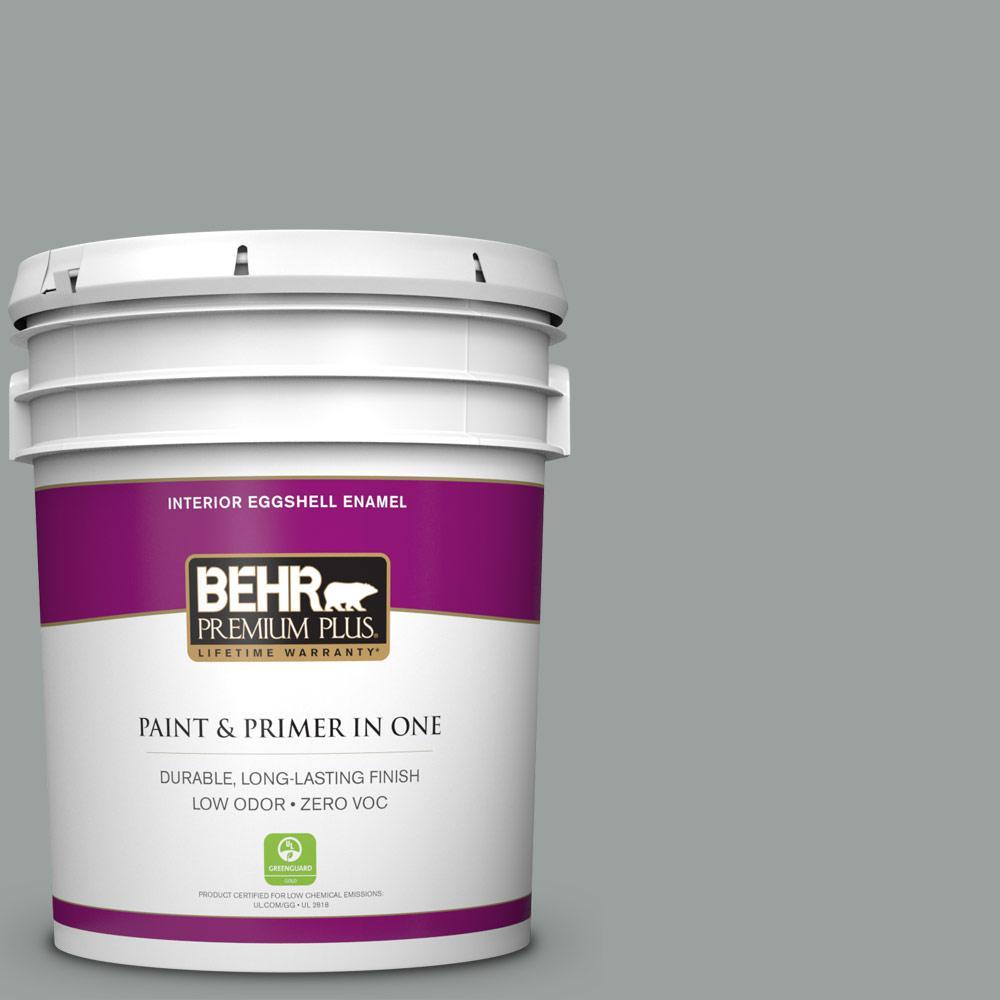 5 gal. #PPU11-16 Brampton Gray Zero VOC Eggshell Enamel Interior Paint