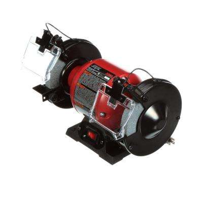 2.1 Amp Corded Electric 6 in. Corded Electric Bench Grinder with LED Light