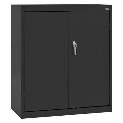 Classic Series 42 in. H x 36 in. W x 18 in. D Steel Counter Height Storage Cabinet with Adjustable Shelves in Black