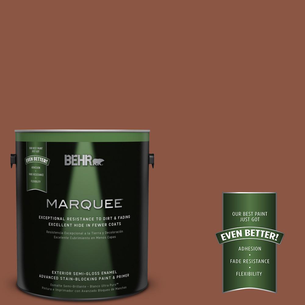 BEHR MARQUEE 1-gal. #S180-7 True Copper Semi-Gloss Enamel Exterior Paint