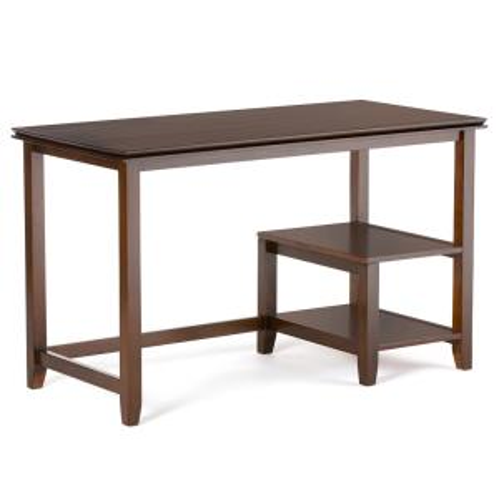 Baxton Studio Mckenzie Contemporary Dark Brown Finished Wood Desk