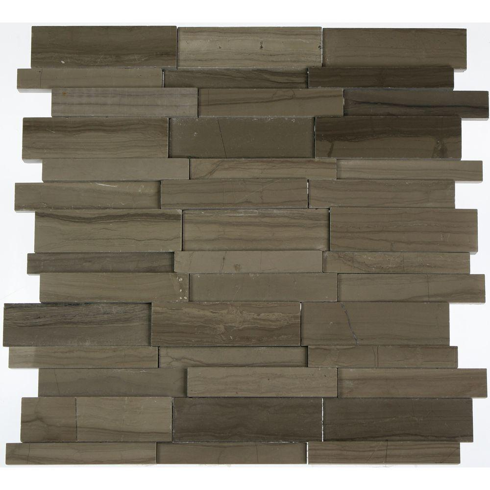 Splashback Tile Dimension 3D Brick Athens Gray Pattern 12 in. x 12 ...