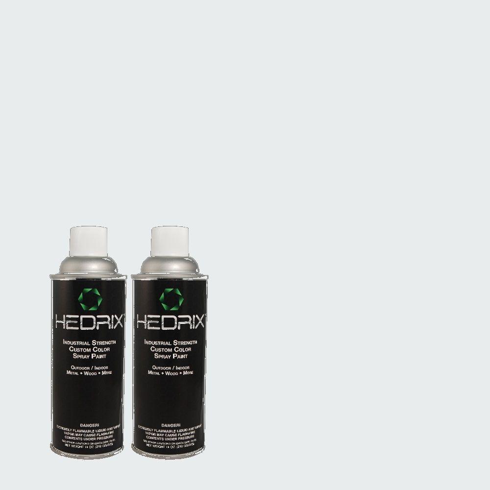 Hedrix 11 oz. Match of 570A-1 Ice Floe Semi-Gloss Custom Spray Paint (2-Pack)