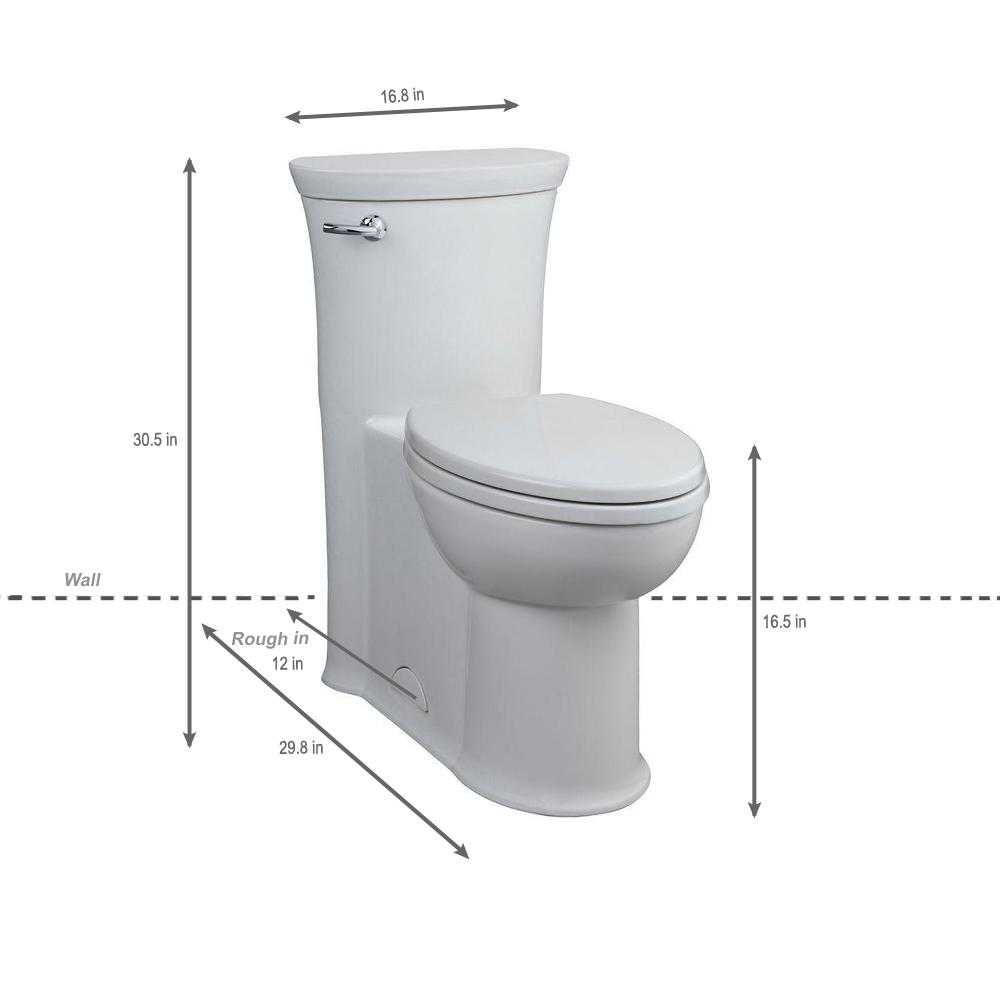 American Standard Tropic Tall Height 1 Piece 1 28 Gpf Single Flush Elongated Toilet In White 2786 128 020 The Home Depot