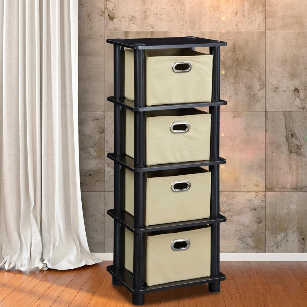 laci espresso and black storage chest