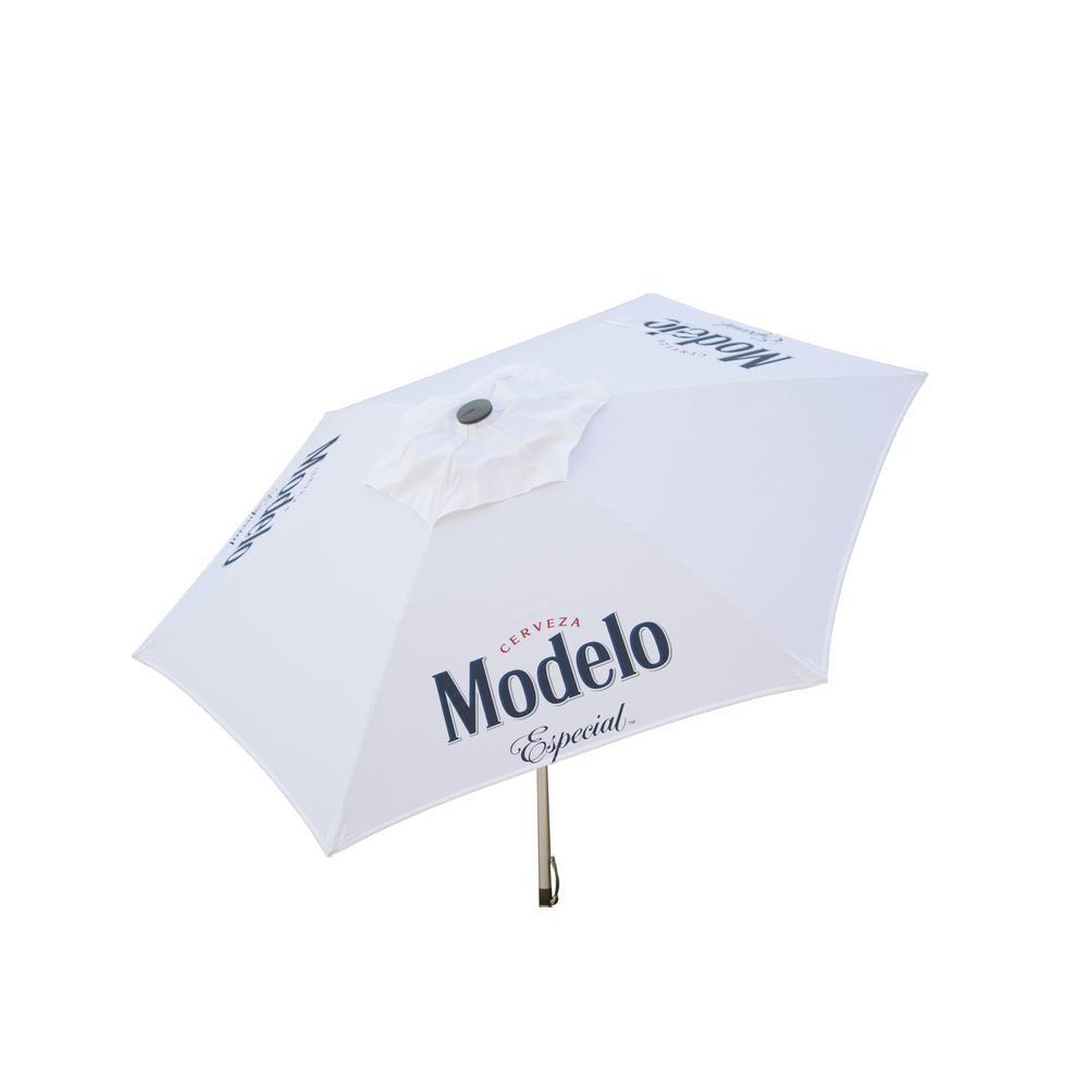 Modelo Especial 8.5 ft. Aluminum Tilt Patio Umbrella in White Polyester