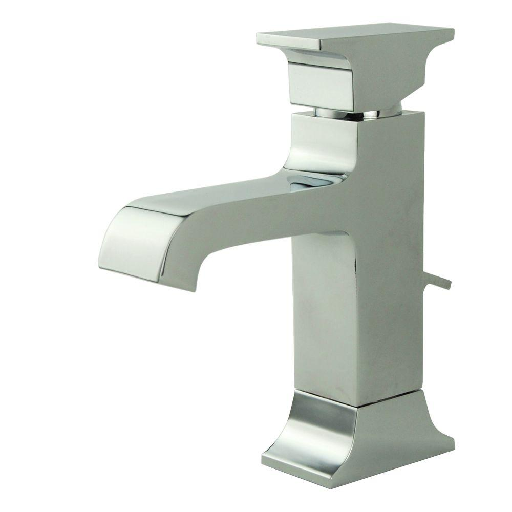 Fontaine Teodoro Single Hole 1-Handle Mid Arc Bathroom Faucet in Chrome