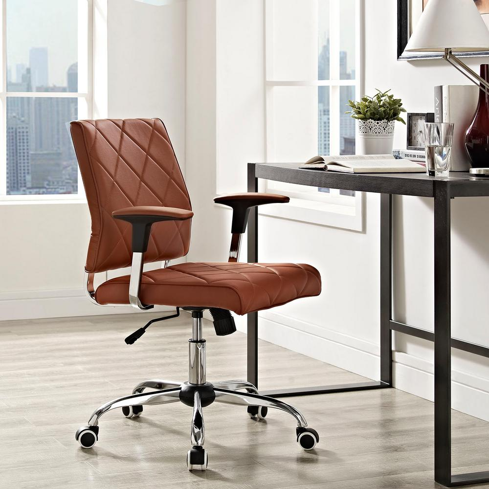 depot chairs home eei office p vinyl modway in tan the chair lattice