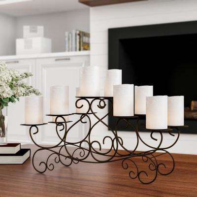 10-Candle Candelabra with Swirl Design