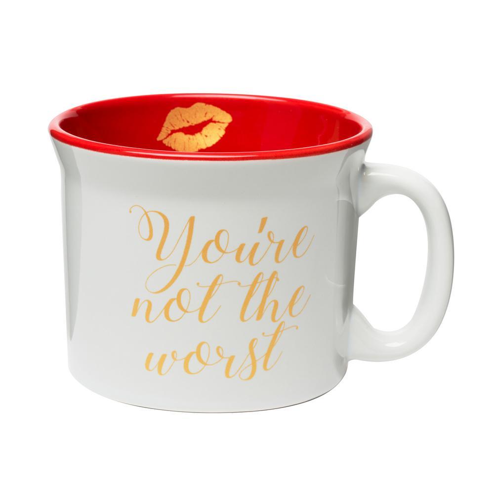 You're Not the Worst 20 oz. White-Red Ceramic Coffee Mug