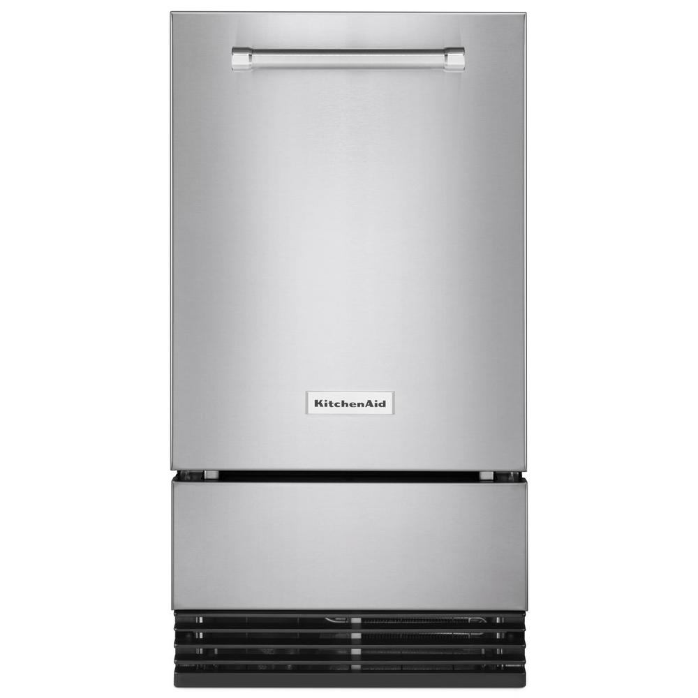 KitchenAid 18 in. 35 lb. Built-In Ice Maker in PrintShield Stainless Steel