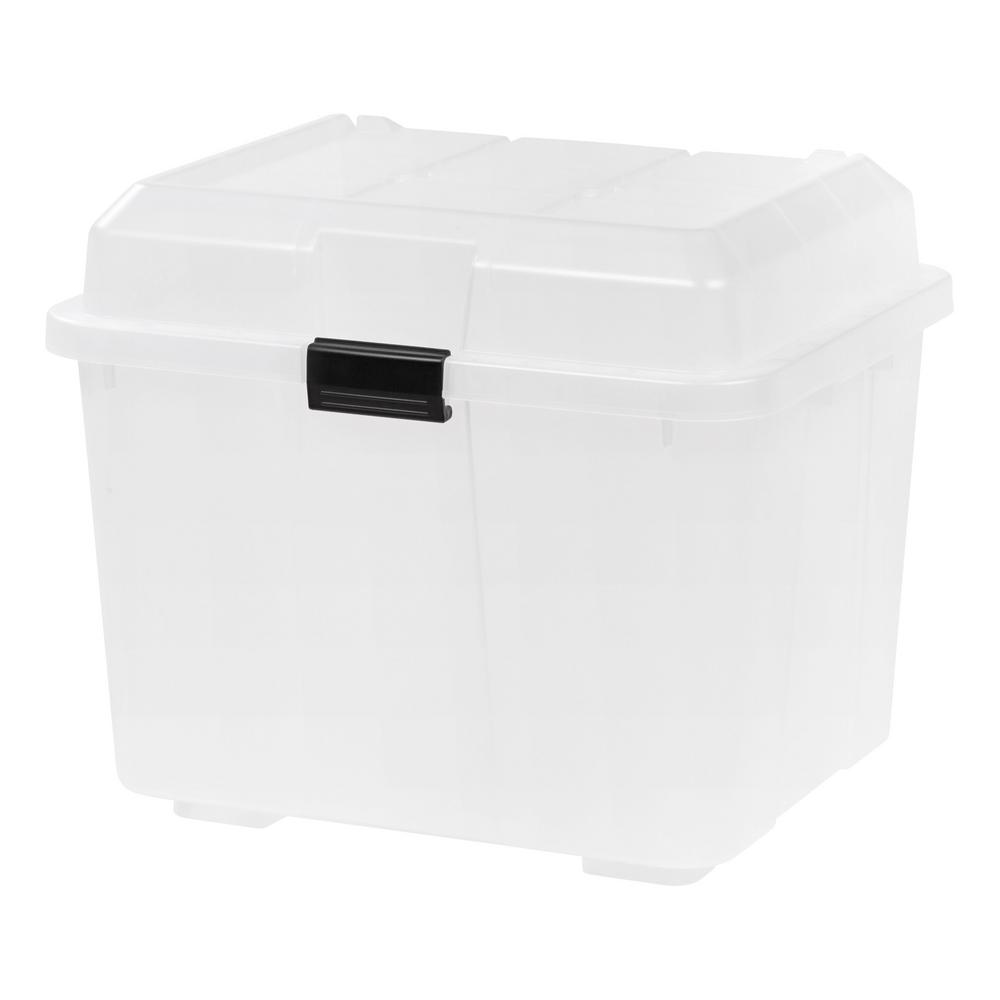Hinged Clear Lid Storage Trunk(4 per Pack)