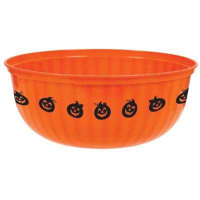 4 in. x 11 in. Halloween Large Jack-O ft.-Lantern Bowl (5-Pack)