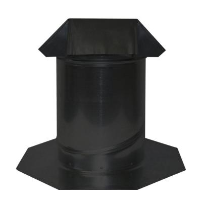8 in. Adjustable Pitch Galvanized Steel Pipe Flashing in Black