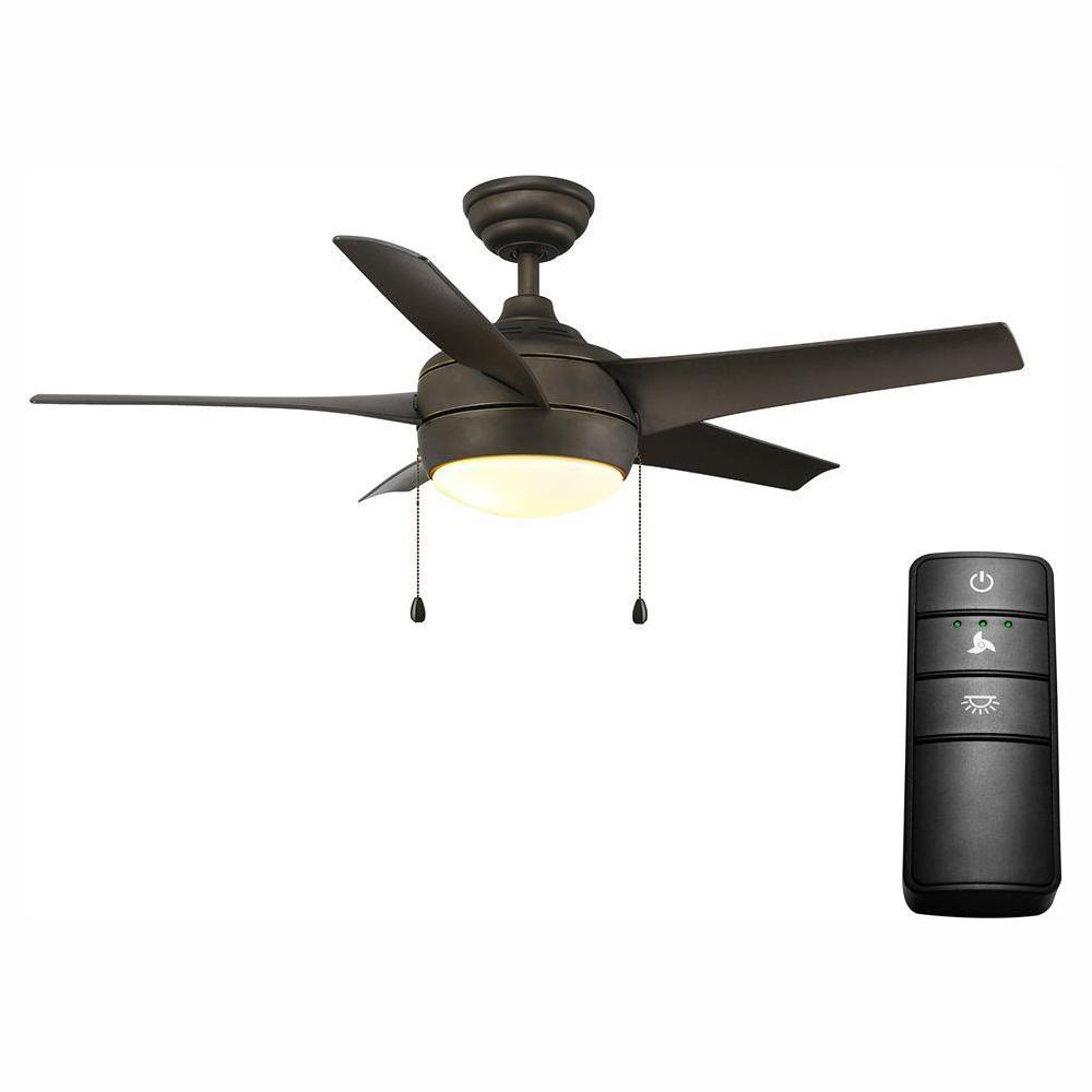 Home Decorators Collection Windward 44 in. LED Oil-Rubbed Bronze Ceiling Fan with Light Kit and Remote Control