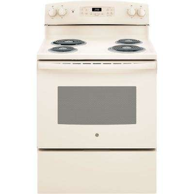 30 in. 5.0 cu. ft. Electric Range with Self-Cleaning Oven in Bisque