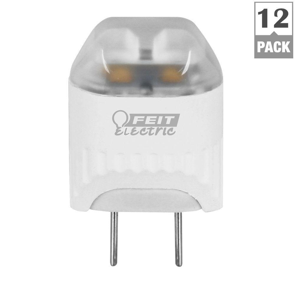 20W Equivalent Warm White Wedge LED G8 2-Pin Base Light Bulb