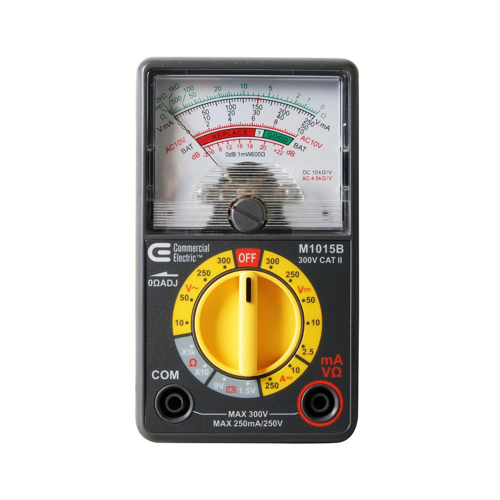 Commercial Electric Analogue Multimeter-M1015B - The Home Depot