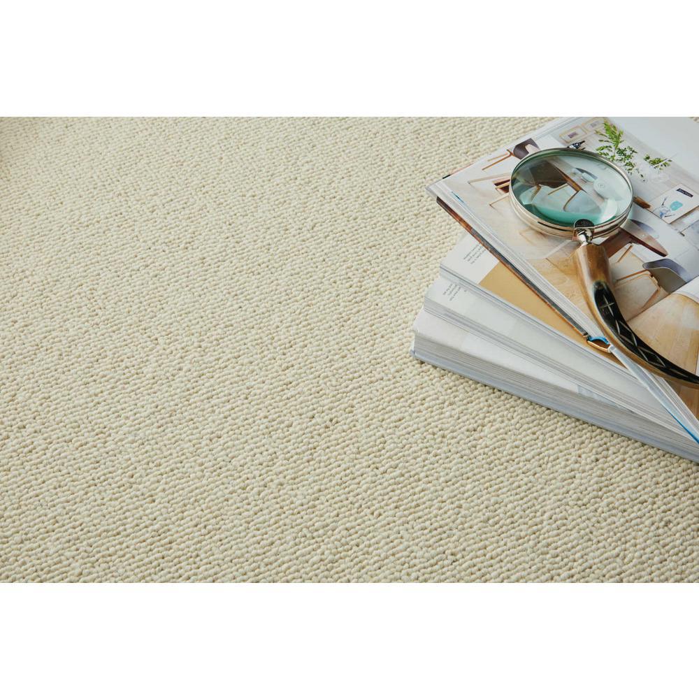 Bismarck - Color Ivory 13 ft. 2 in. Berber Carpet