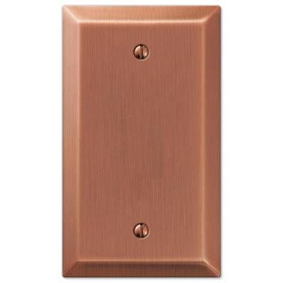 Metallic 1 Gang Blank Steel Wall Plate - Antique Copper