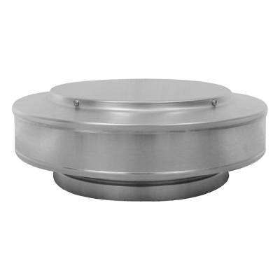 10 in. Dia. Aluminum Vent Pipe Cap in Mill Finish