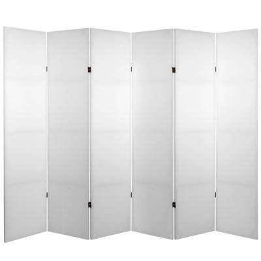 6 ft. White 6-Panel Blank Canvas Room Divider