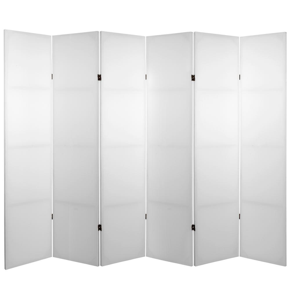 6 ft. White 6-Panel Blank Canvas Room Divider