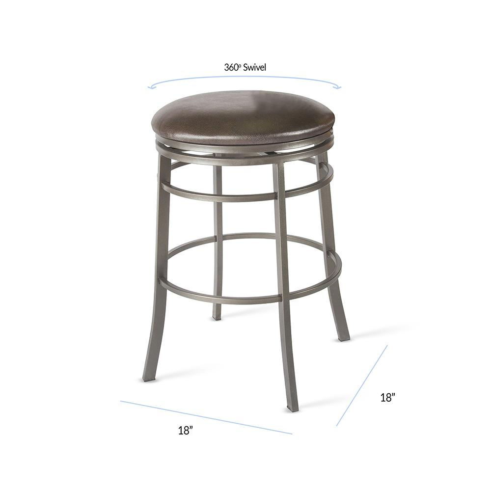 Admirable Milo 30 In Gray Backless Swivel Bar Stool Customarchery Wood Chair Design Ideas Customarcherynet